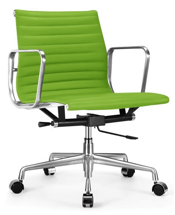 Ribbed Back Office Chair In Le Green Jpg