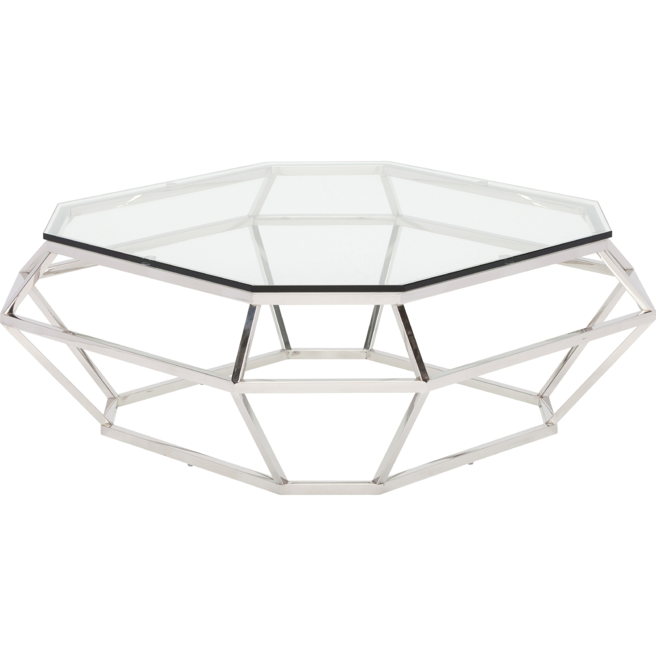40 Metal Square Coffee Tables: Nuevo Diamond Square Coffee Table Stainless Steel Or Rose