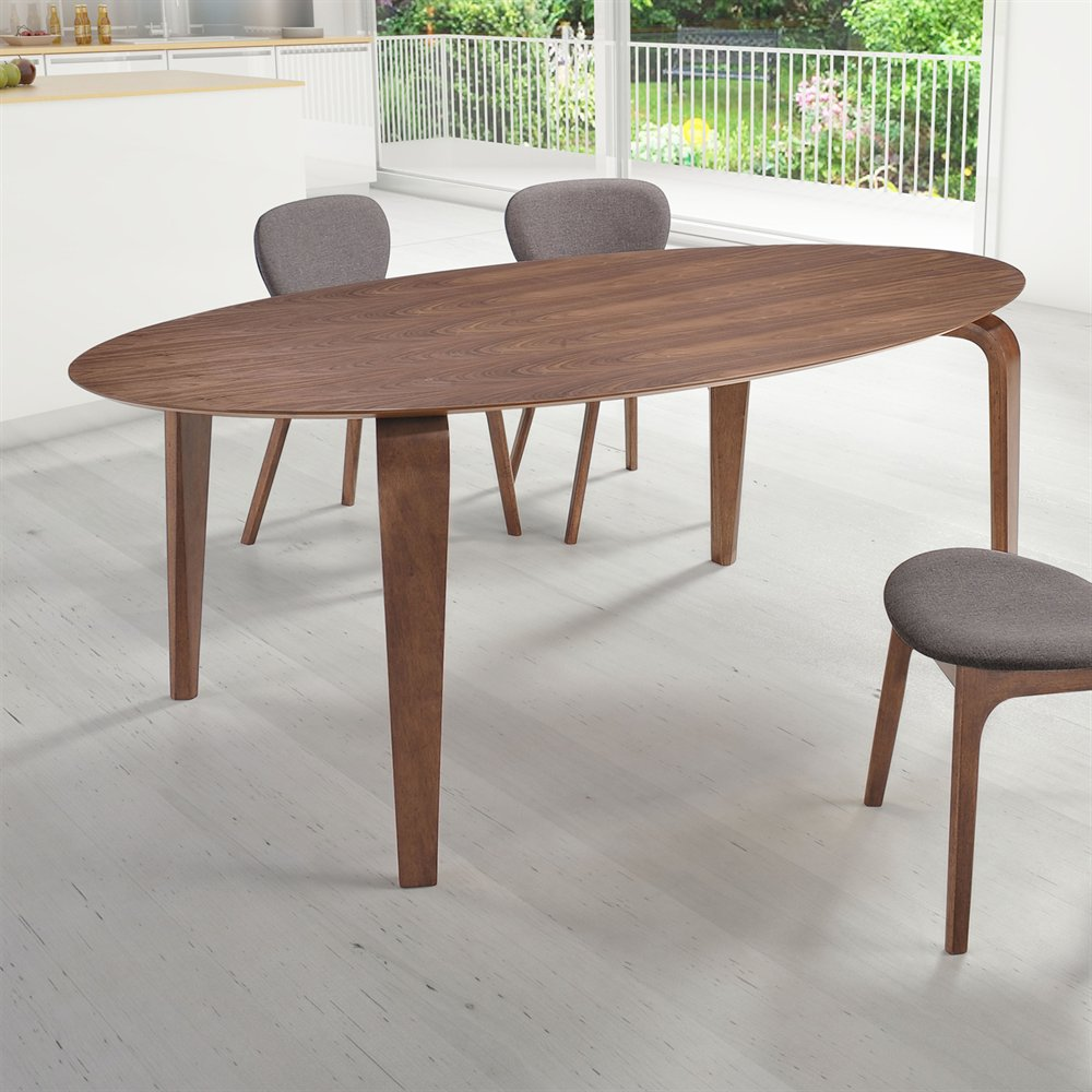 Zuo Virginia Key Dining Table Walnut