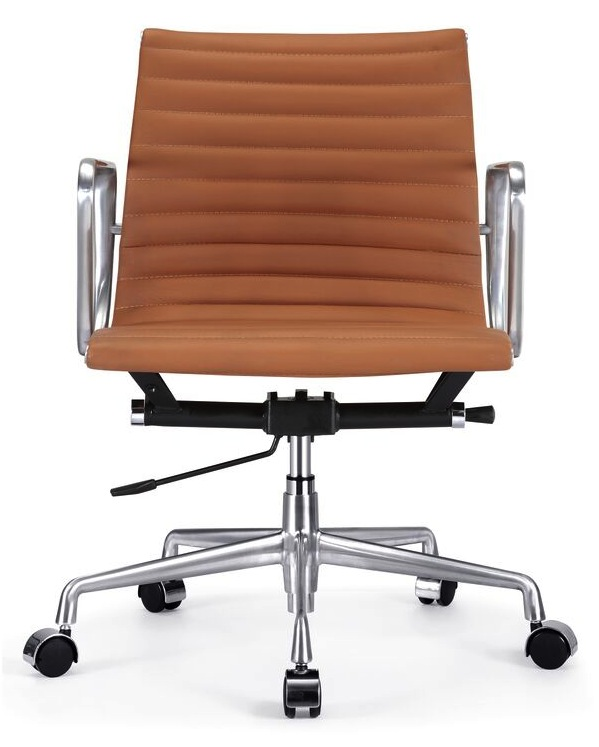 aluminum management chair ribbed back - home and office furniture