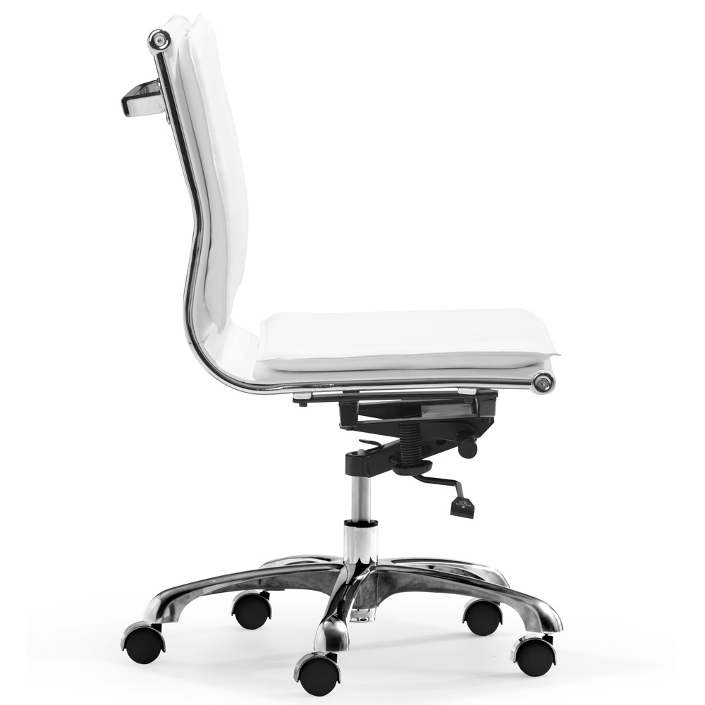 modern white office chair. Lider-plus-armless-office-chair-white.jpg Modern White Office Chair