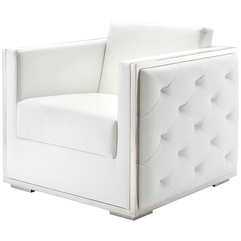 ... Boxer Armchair White By Nuevo ...