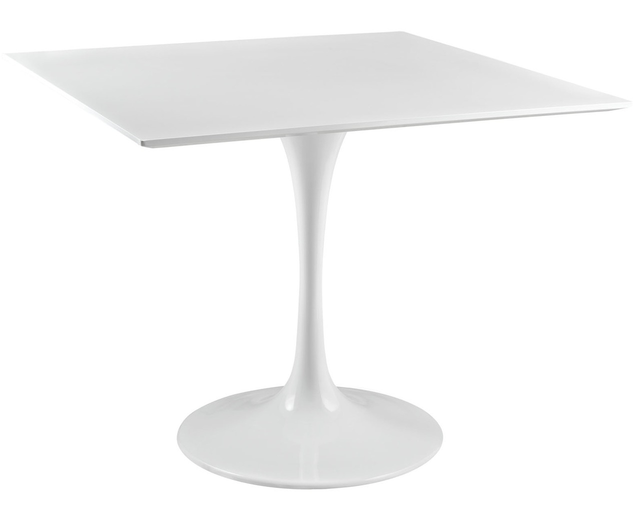 White Tulip Dining Table With Squre Top And Many Top Sizes Home And