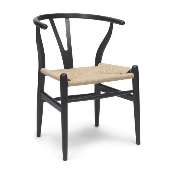 hans wegner wood wishbone chair reproduction 198 many colors and finishes. Black Bedroom Furniture Sets. Home Design Ideas