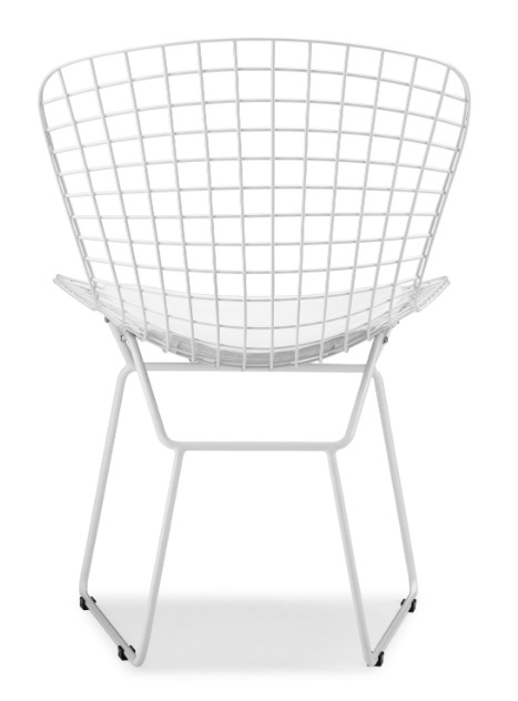 Bertoia Wire Chair bertoia wire side chair with white frame - advancedinteriordesigns