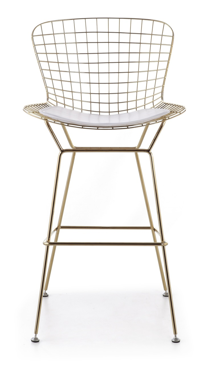 Bertoia Bar Stool In Gold - AdvancedInteriorDesigns.com