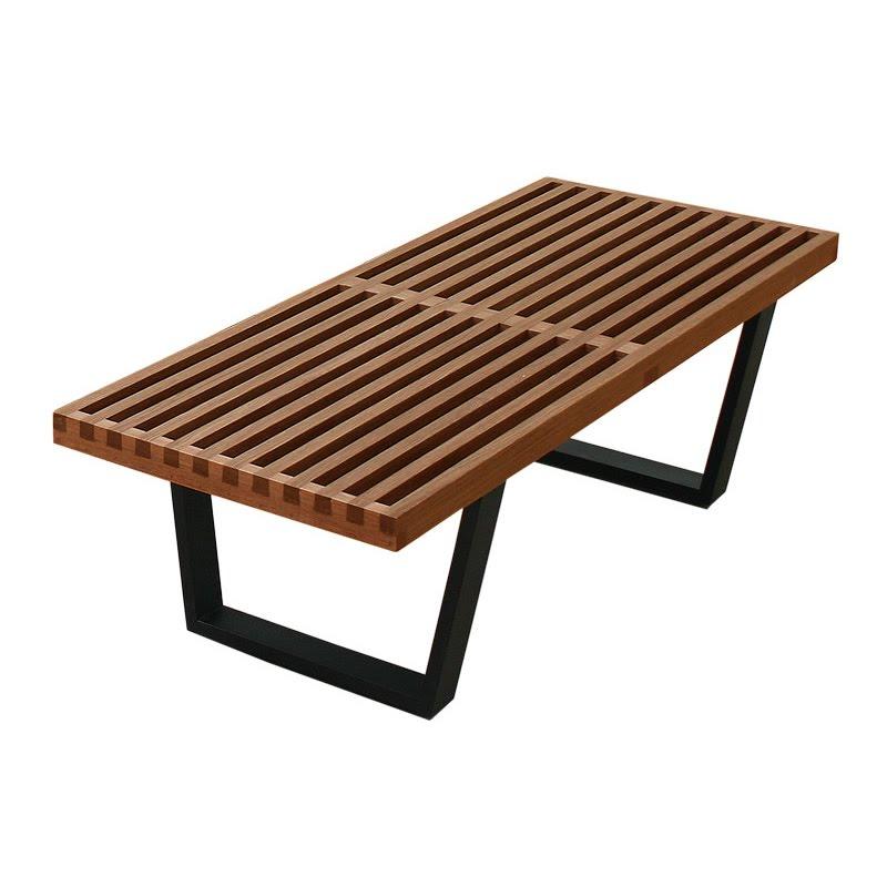 Hardwood Platform Bench Walnut Maple Natural Ash And