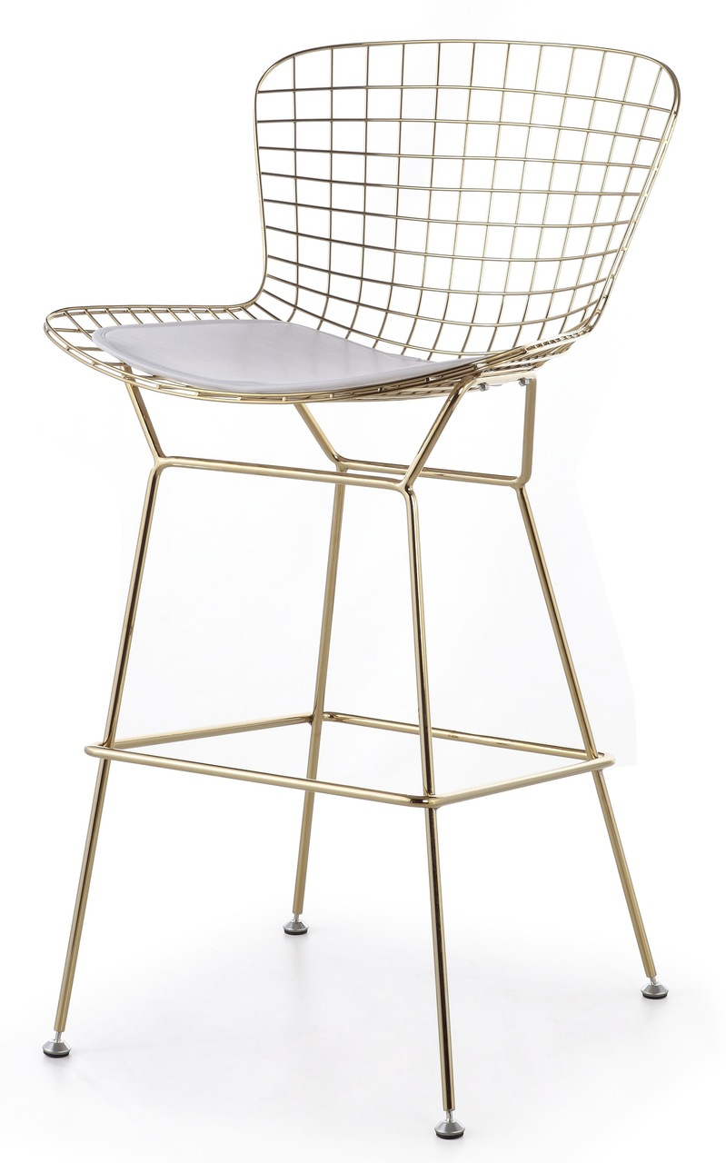 Bertoia Counter Stool In Gold Frame