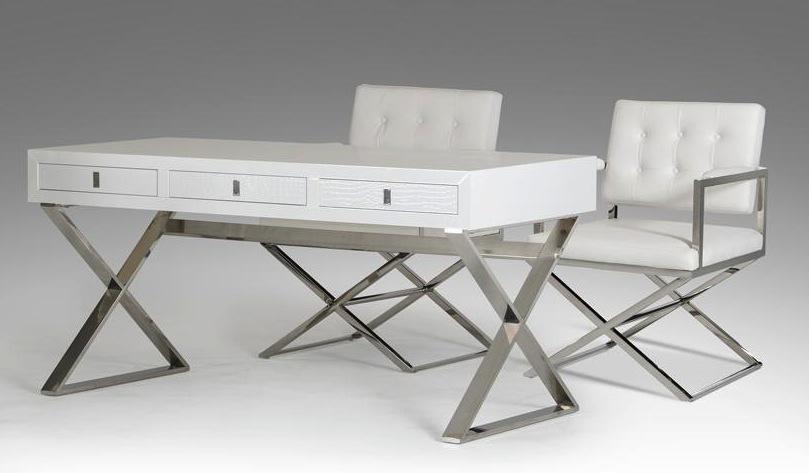 Director Desk In White Color Jpg