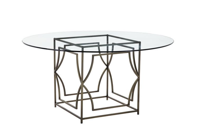 Julia 60 Round Glass Top Dining Table Home And Office Furniture