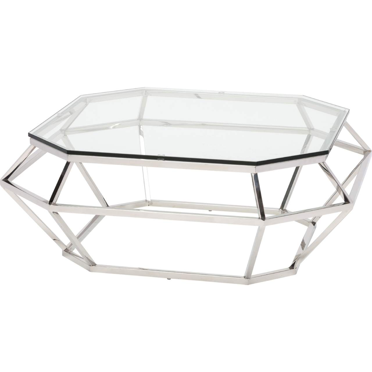 Nuevo Aurora Gold Coffee Table: Nuevo Diamond Square Coffee Table Stainless Steel Or Rose