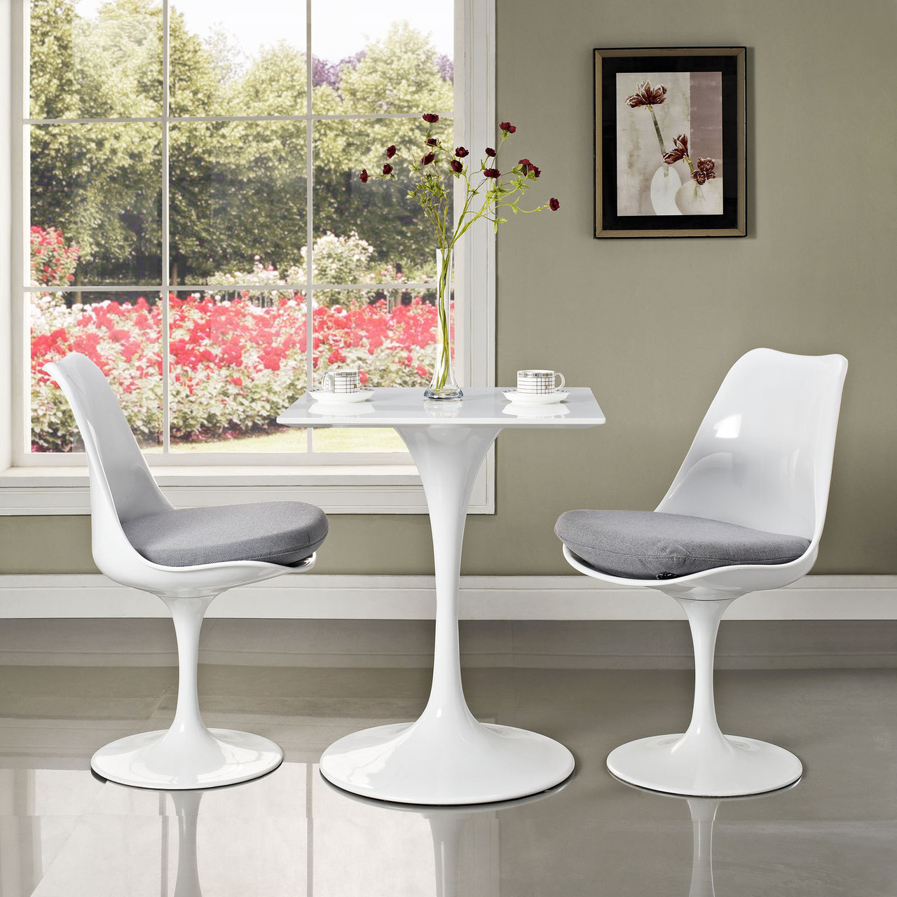 Tulip Table Square Top Pedestal Table Home And Office