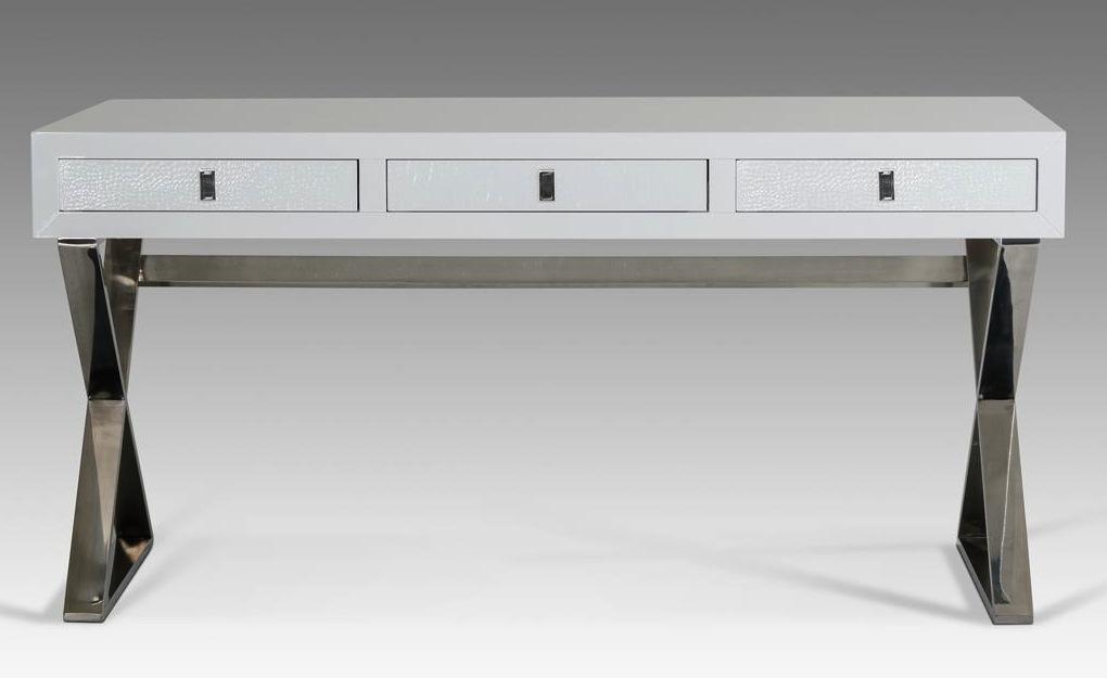 Director Crocodile White Desk | Modern Desks