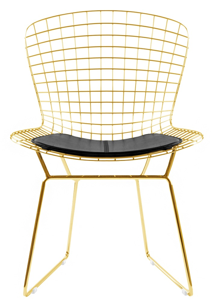... Bertoia Gold Side Chairs ...
