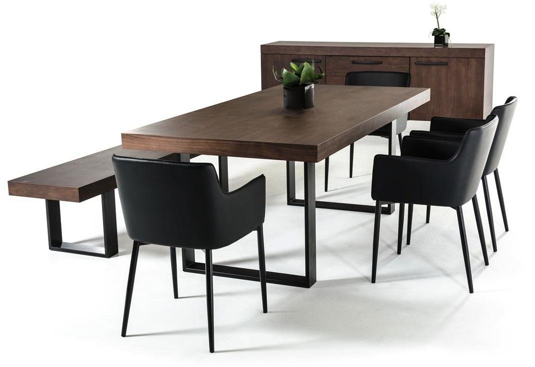 Gray Wood Dining Table
