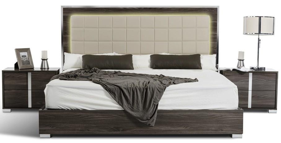 san francisco 5pcs modern grey bedroom set