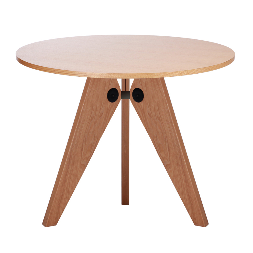 Gueridon Solid Wood Round Dining Table Small Large