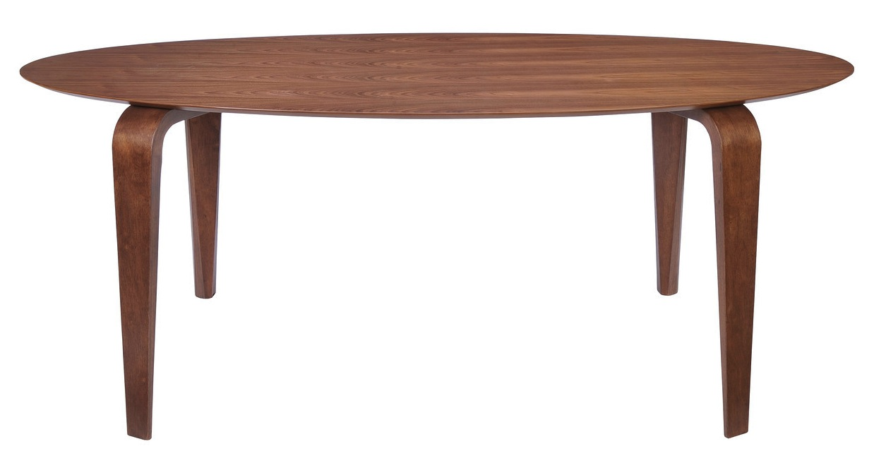 Oval walnut dining table advanced interior designs - Dining table images ...