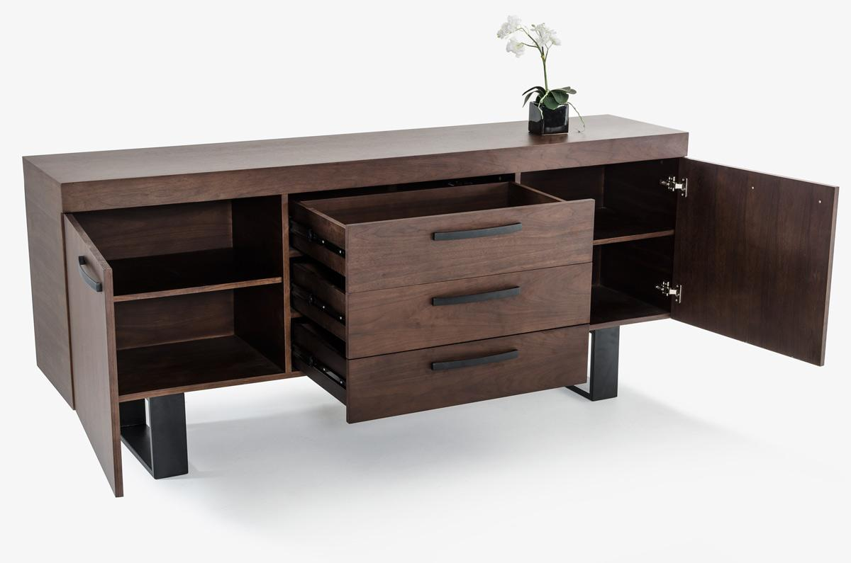 Modern walnut wood buffet for Advance interior designs