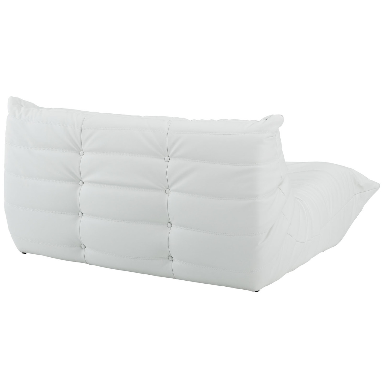 Downlow 5 Piece White Leather Sectional Advanced
