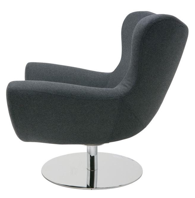Nuevo Conner Lounge Chair Light Gray Wool HGDJ754