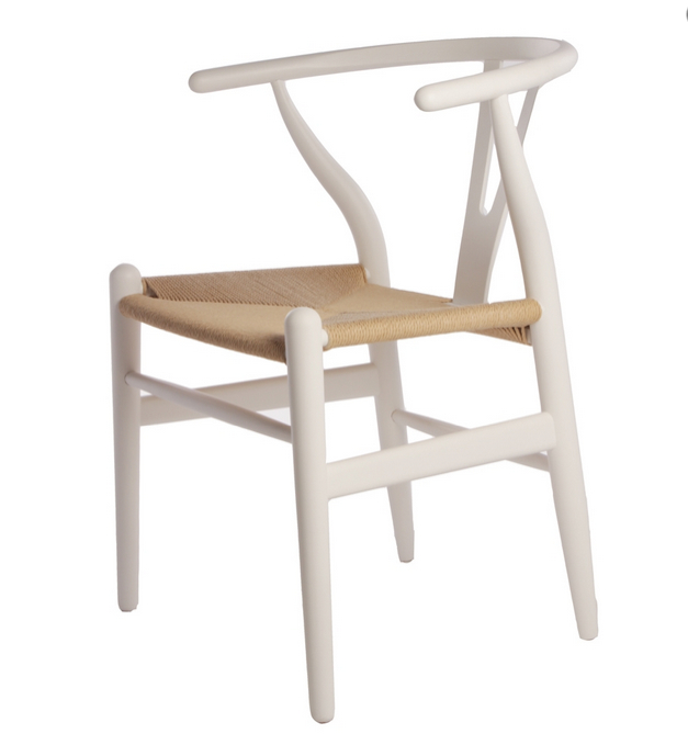 ... Wishbone Chair In White Finish ...