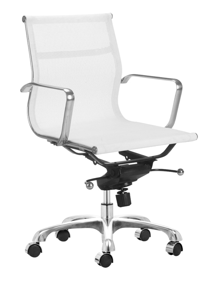 white mesh management chairs - home and office furniture