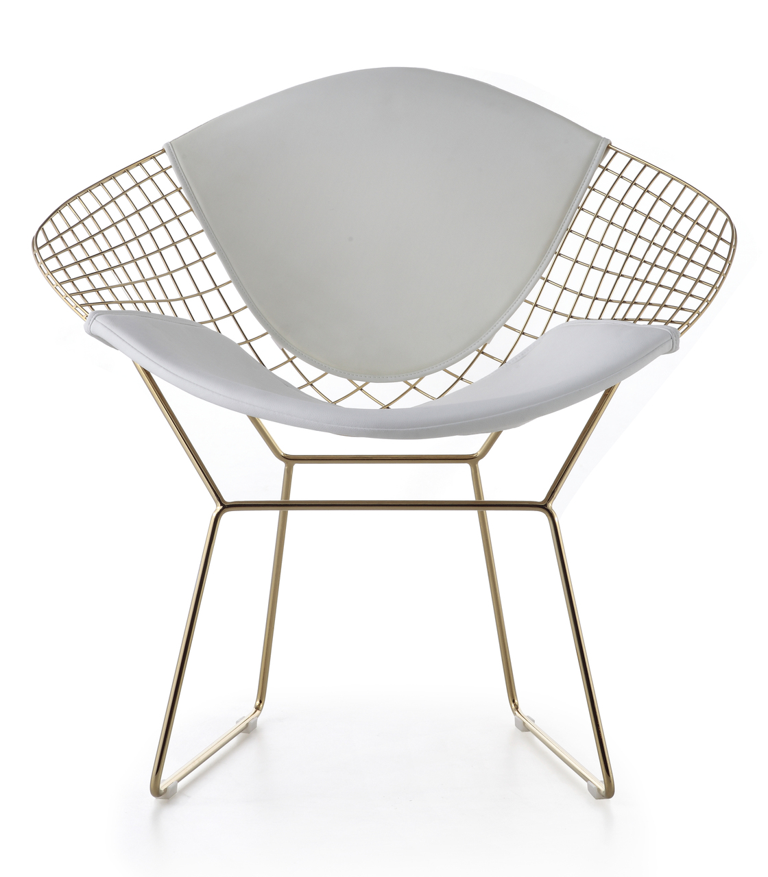 bertoia diamond chair in gold