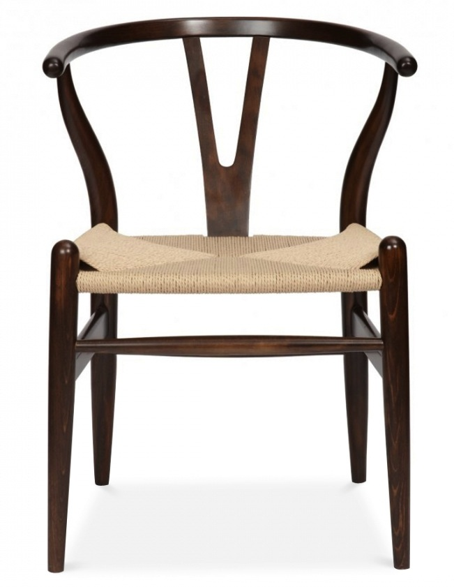 Awesome ... Wishbone Chair Dark Brown ...