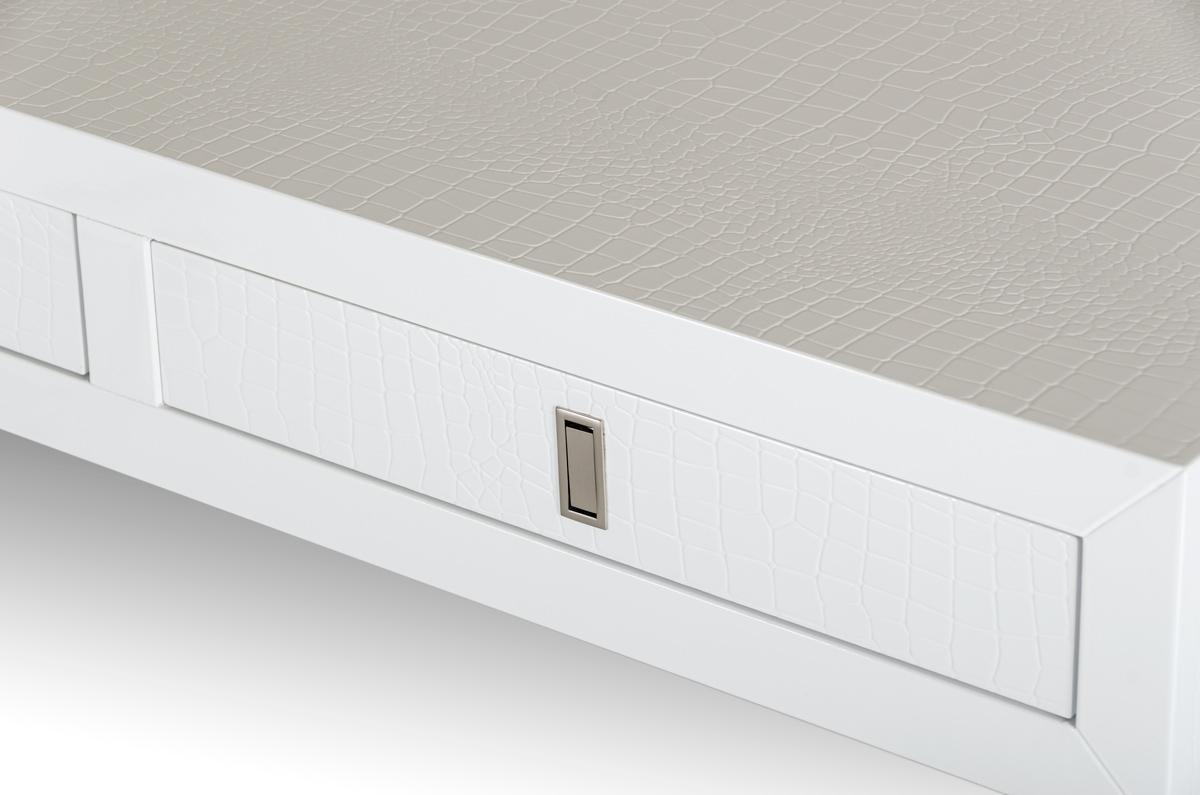 Director crocodile white desk modern desks for Advance interior designs