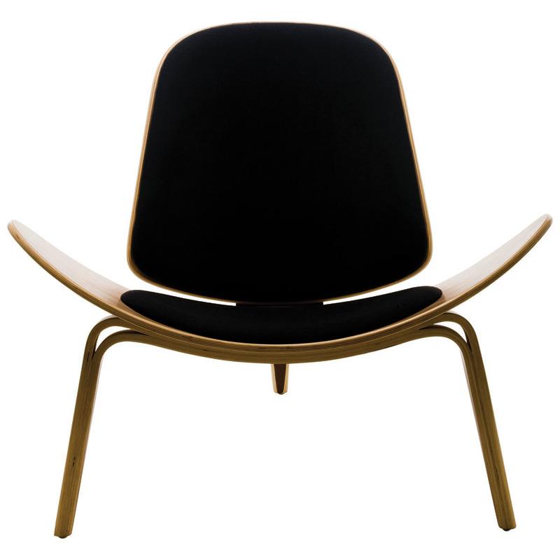 Charming Shell Chair Walnut Finish ...