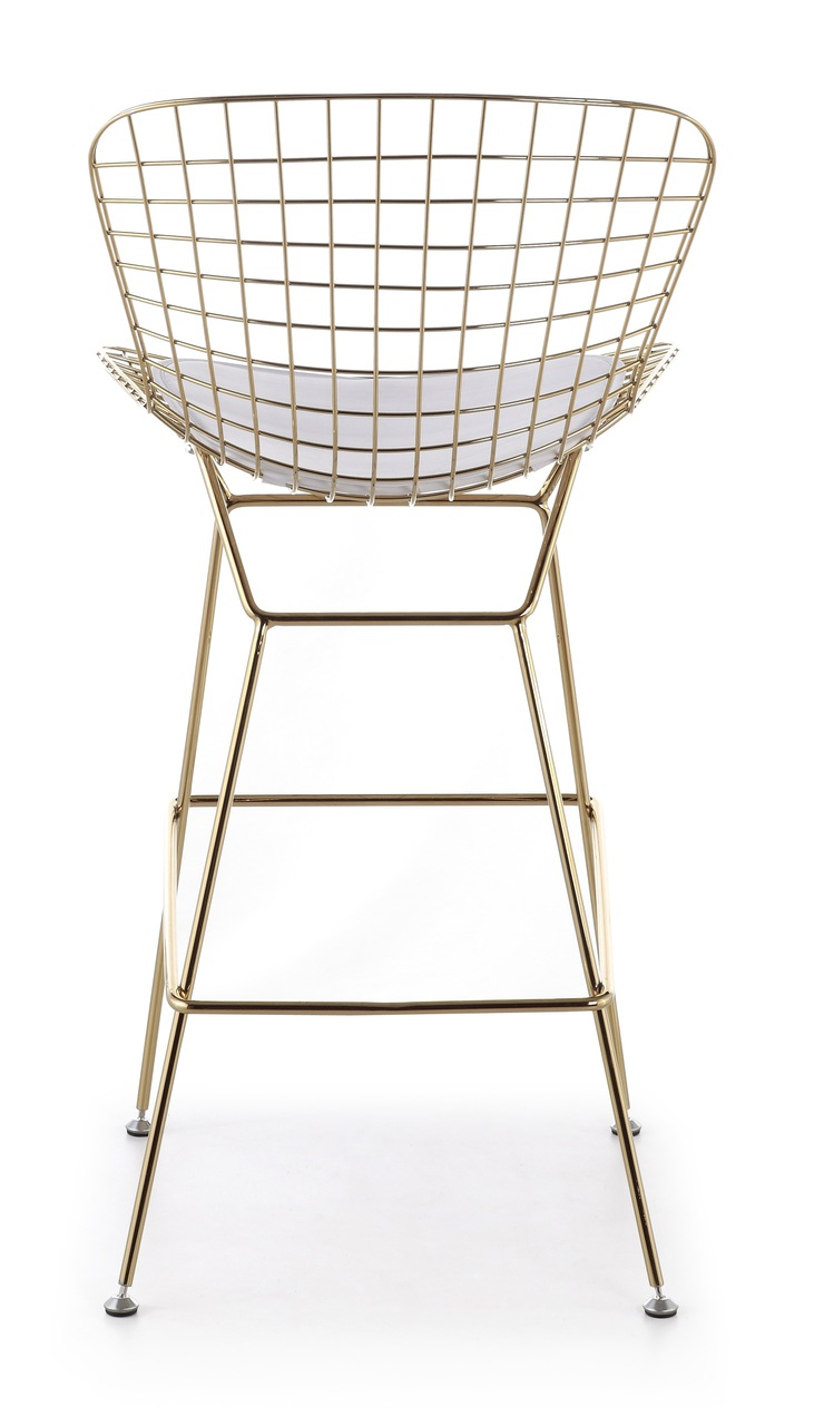 Bertoia bar stool in gold for Bertoia stoel