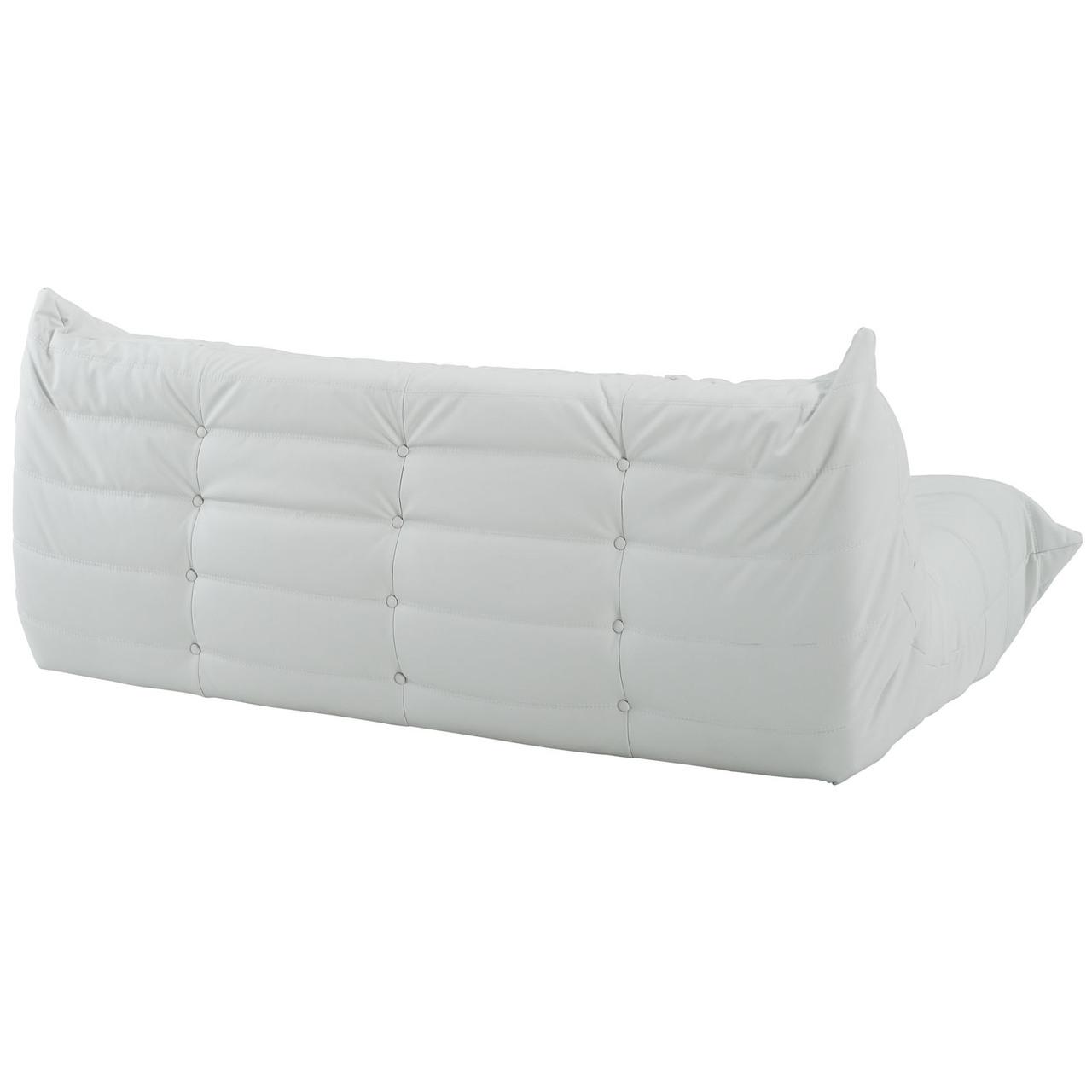 Downlow Sofa White Leather - AdvancedInteriorDesigns - Modern Sofa ...