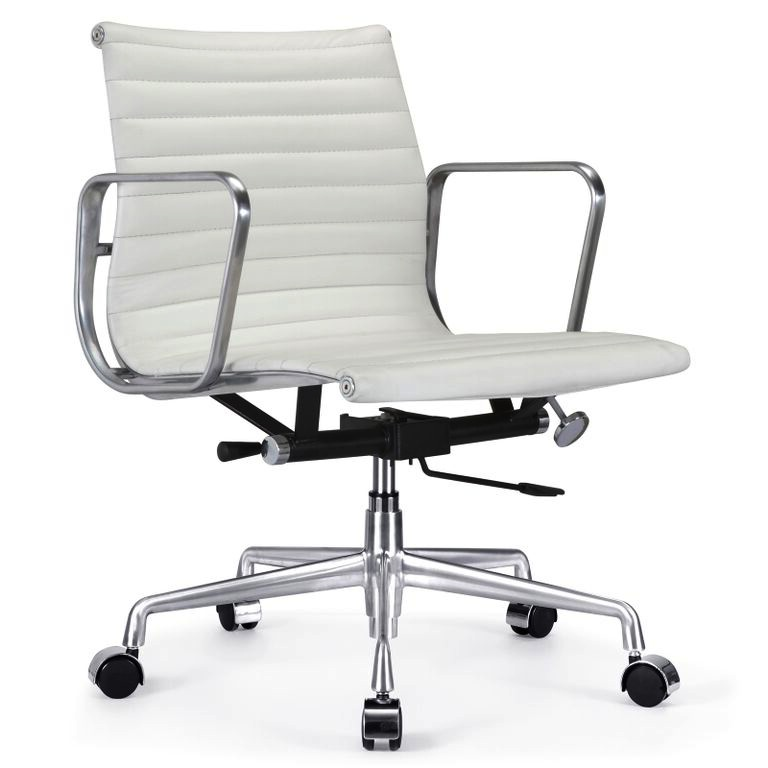 Perfect ... Ribbed Back Office Chair White ...