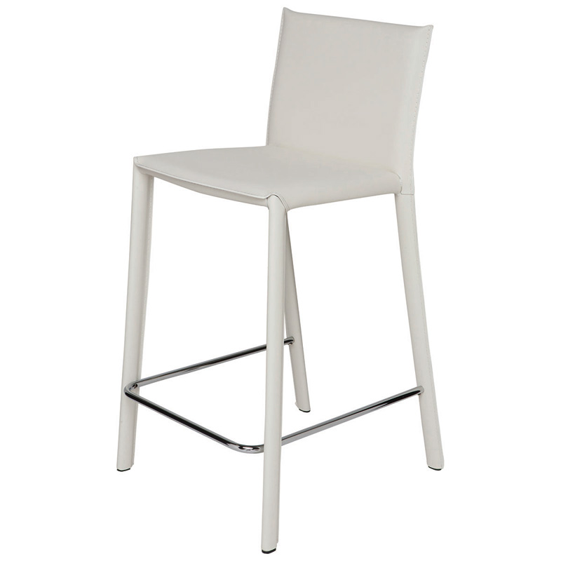 Nuevo Brigitte Leather Counter Stool Home And Office