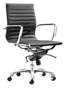 Aluminum Group Management Chair Black