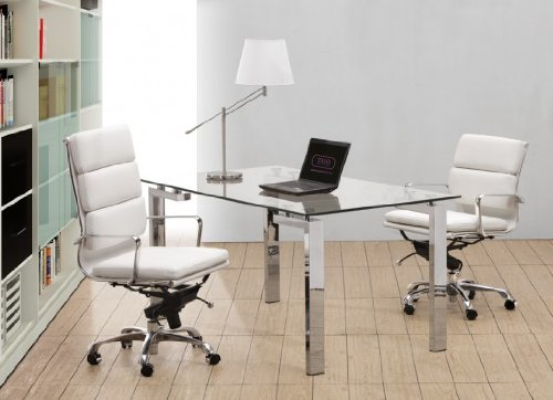 Executive Soft Pad Chair High Back White