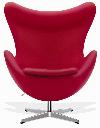 AJ Egg Chair In Red
