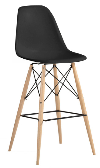 Molded Plastic Bar Chair With Dowel Legs