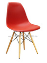Eiffel Wire Base Side Chair with Wood Legs