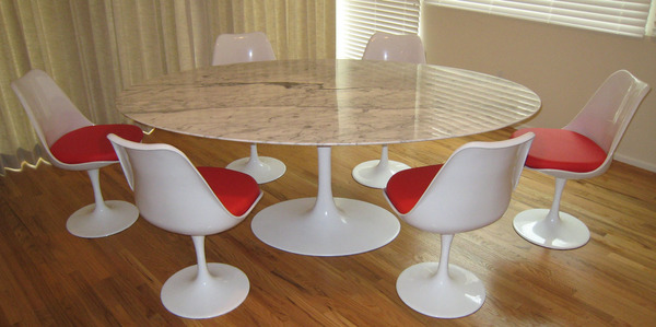 Saarinen Dining Table  Oval Marble - Oval marble dining table