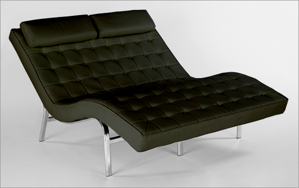 : leather lounge chaise - Sectionals, Sofas & Couches