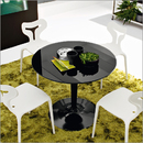 Planet dining table glass