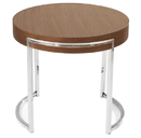 Rosa Round End Table White Lacquer