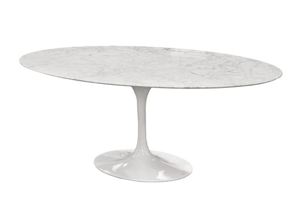 saarinen dining table 78 oval marble. Black Bedroom Furniture Sets. Home Design Ideas