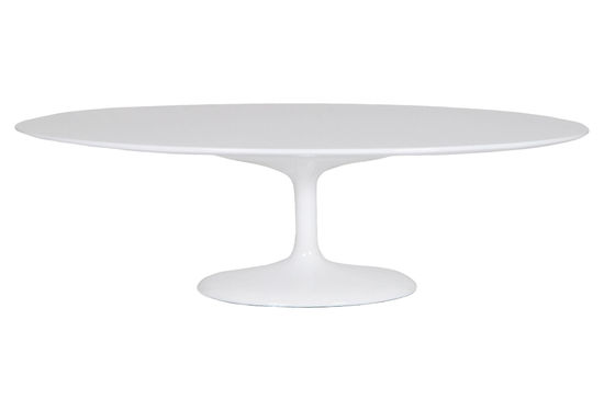Saarinen Style Oval Tulip Coffee Table Fiberglass