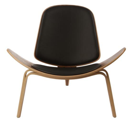 wegner leather shell chair