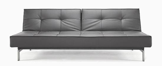 armless steel legs leather 1