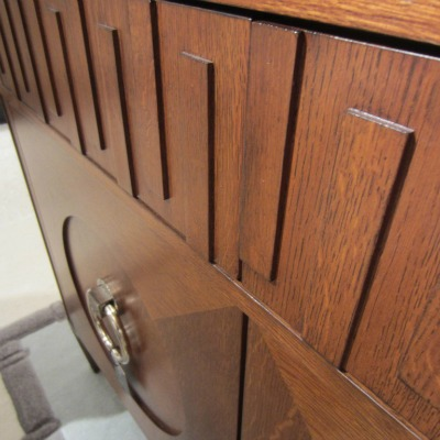 Century dark oak cabinet for Advance interior designs