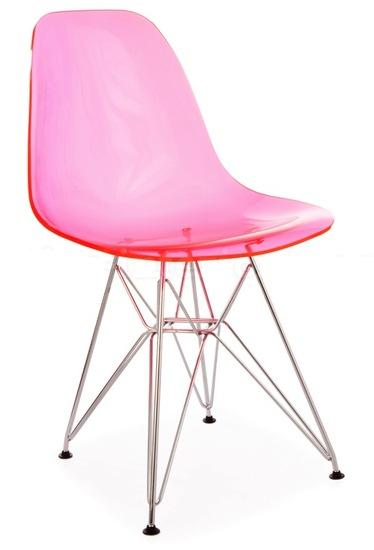 Eiffel Wire Base Chair Acrylic
